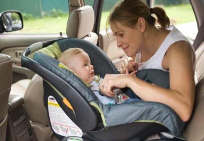 Scaun auto pentru copii poziționat corect